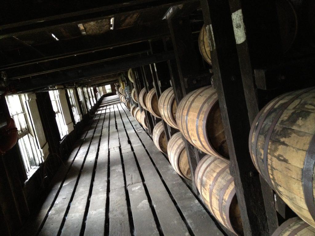 The barrels at Buffalo Trace Distillery