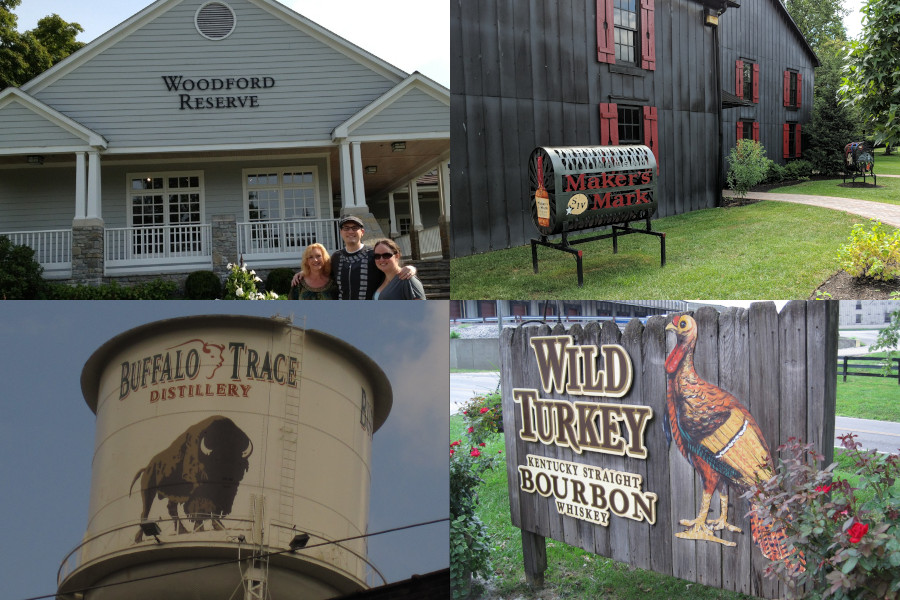 Some of the distilleries we visited