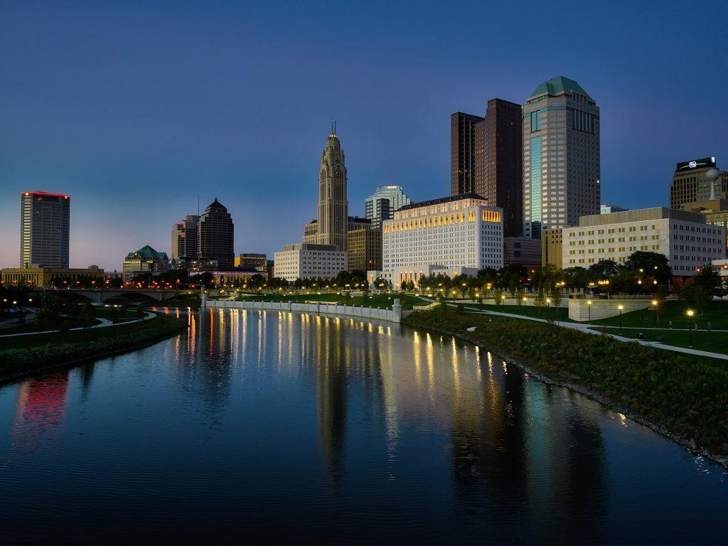 The Columbus, Ohio skyline