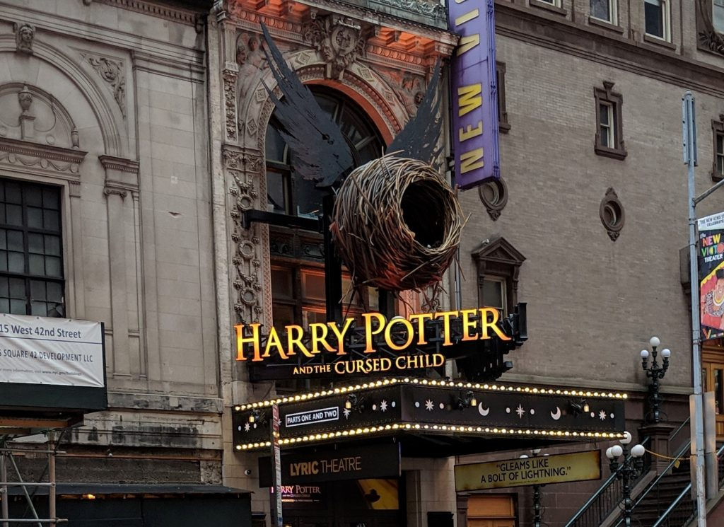 The Lyric Theatre showing Harry Potter and the Cursed Child