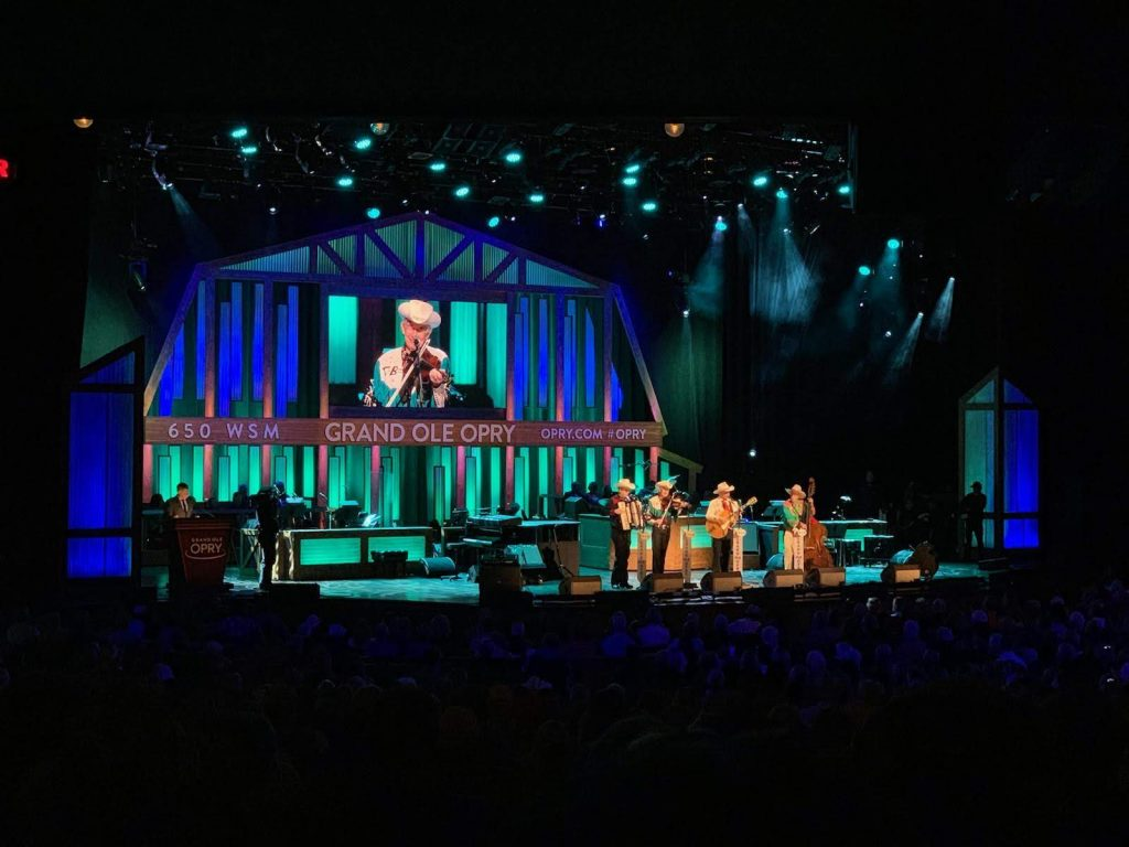 The Grand Ole Opry Stage during the show