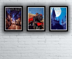 Harry Potter-inspired location posters by PosterQuest
