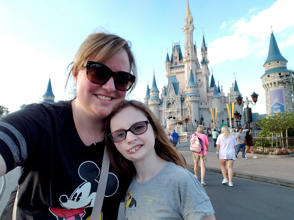 My niece and I in Magic Kingdom