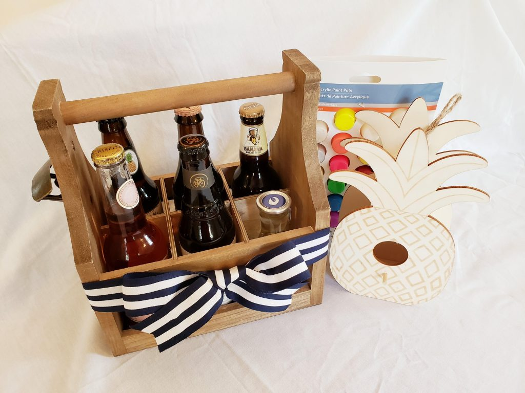 Brian's beer-themed housewarming gift