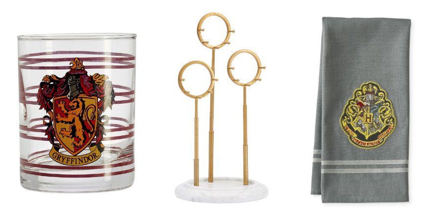 Harry Potter items from Pottery Barn and Williams Sonoma
