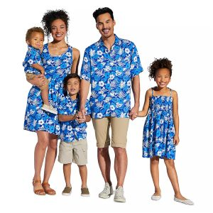 Coordinating Hawaiian shirts and dresses from shopdisney.com