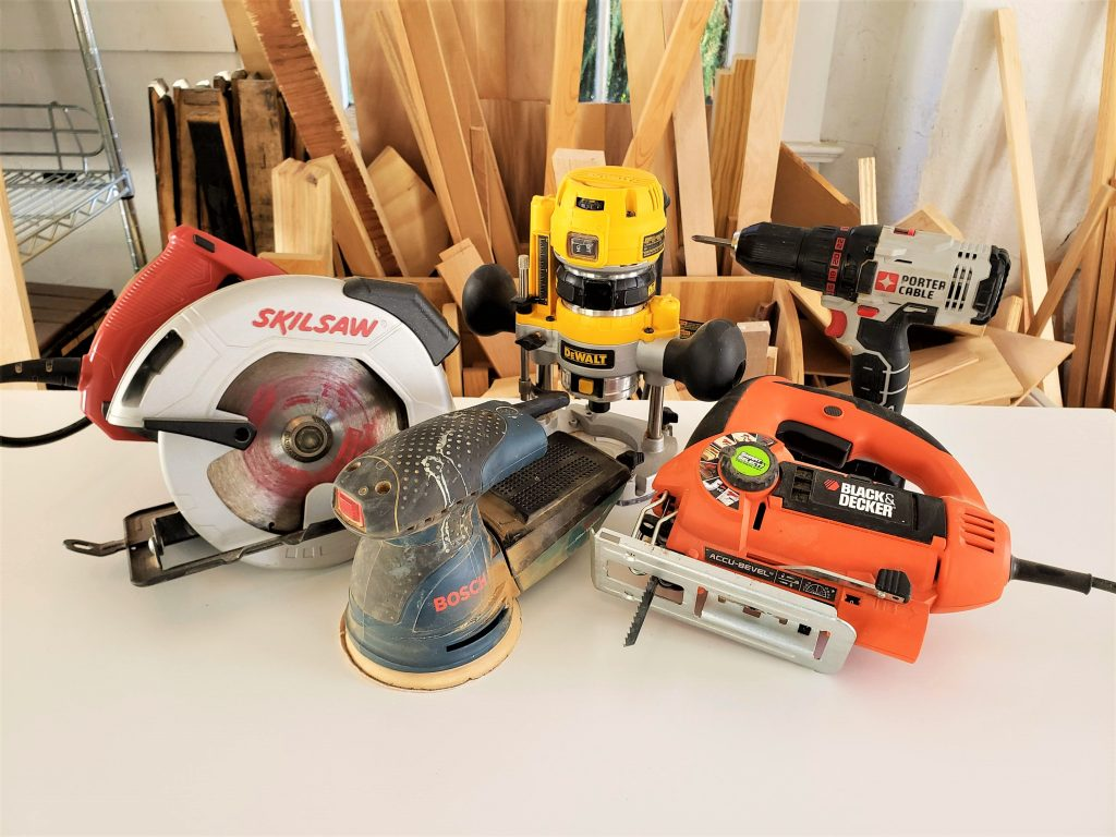 my collection of handheld power tools