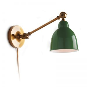 Lutterworth Wall 1-Light Plug-in Armed Sconce from Wayfair