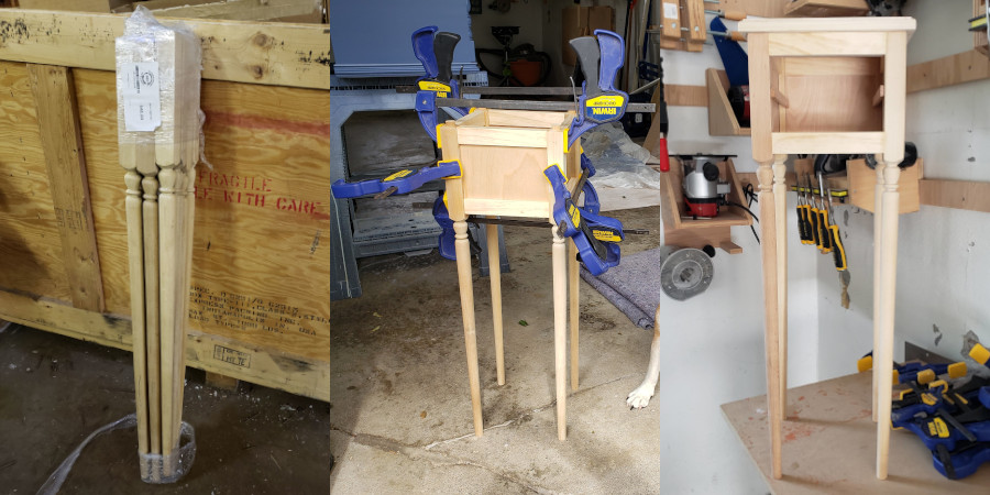 The process of constructing the nightstands
