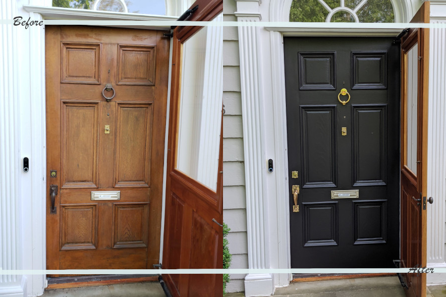 Before and after our front door update