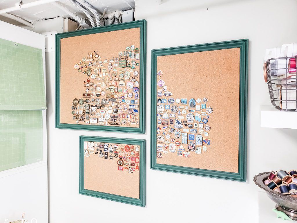 The finished cork boards