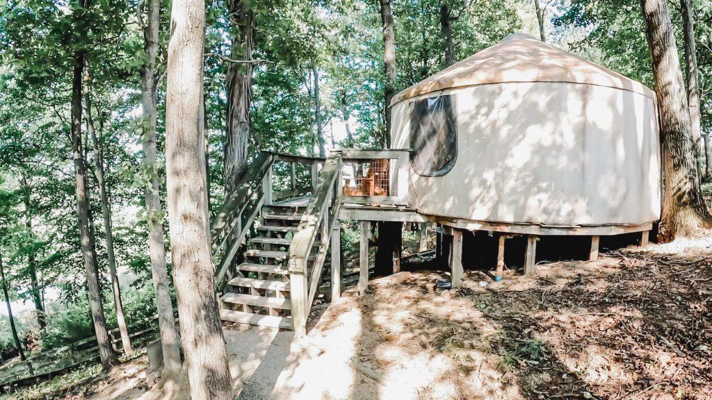 the wilds yurt on nomad ridge